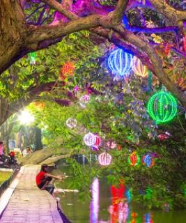 ngoc son temple park in hanoi, vietnam